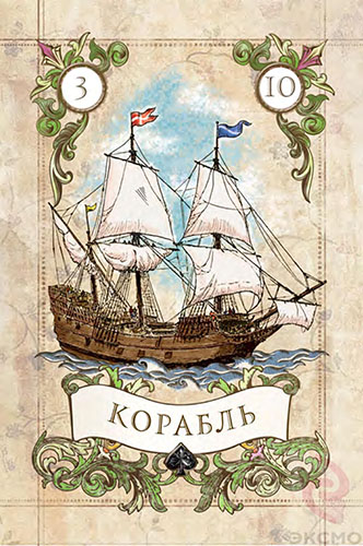 Значение карт ленорман Корабль, карты ленорман, карта Корабль, гадание на ленорман