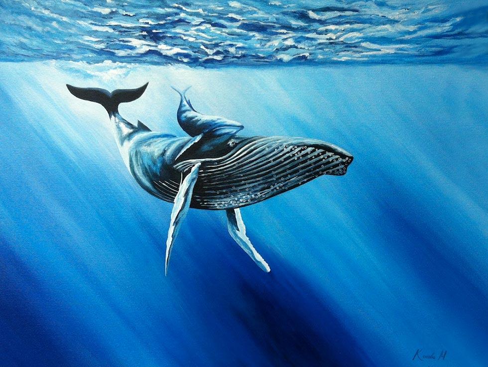 Картина-маслом-море-киты